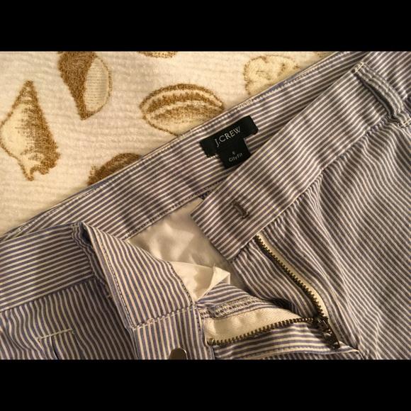 J. Crew Pants - Blue and white striped J.Crew Bermuda shorts